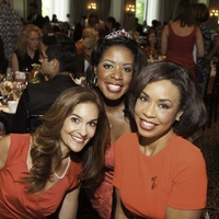 Joy Bauer, from left, Dr. Charnette Taylor and Gina Gaston at the Go Red For Women luncheon May 2014
