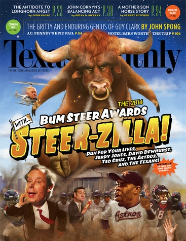 Texas Monthly Bum Steer Awards January 2014 cover