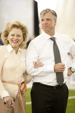 Mary Jean Hardy and Greg Eidman at The Society for Leading Medicine Houston Texans Family Field Day May 2014