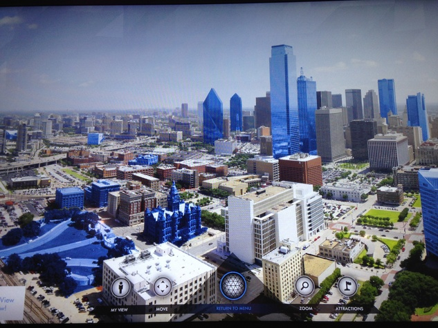 Halo touch screen on GeO-Deck at Reunion Tower