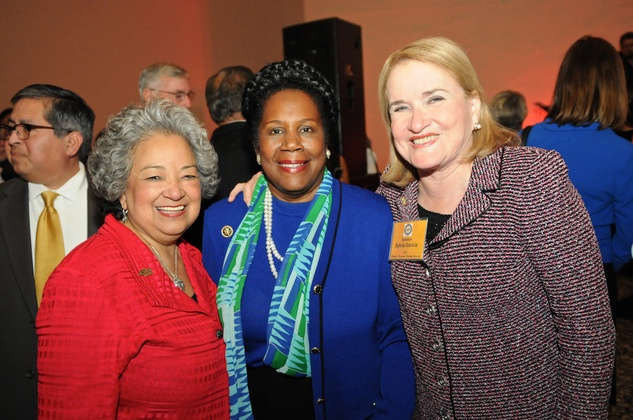 News, Shelby, Mayor's Hispanic Heritage Awards, Oct. 2015, Lenora Sorola-Pohlman, Sheila Jackson Lee, Senator Sylvia Garcia
