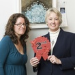 Mayor Annise Parker and Monica Vidal at Art on the Avenue November 2013