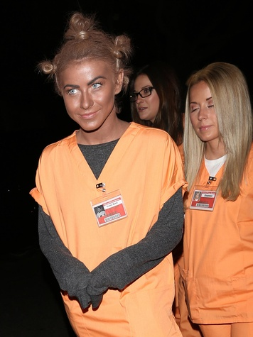 Julianne Hough Crazy Eyes black face costume October 2013