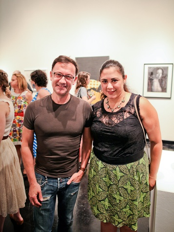Lawndale Art Center The Big Show VIP reception July 2013 Michel Muylle and Theresa Escobedo