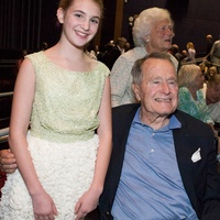 8 Sophie Nélisse and President George H.W. Bush at the The Book Thief screening November 2013