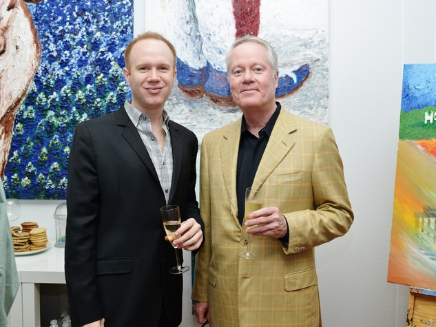 1. Alan Henrichson, left, and Bob Fretz at the Hanh Tran Gallery opening June 2014