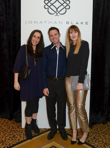 18 28 Shula Pannick, from left, Cody Soutar  and Naomi Smart the Jonathan Blake fashion party April 2014