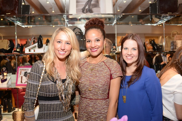 6 Ashley Seippel, from left, Lisa McDonald and Karen Rock at the Elaine Turner BLVD Place Grand Opening Party December 2014