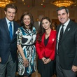 13 Nick Florescu, from left, Minnie Stamos, Georgeta Teodorescu and Aaron Long at the AIDS Foundation Houston luncheon December 2014