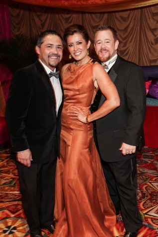 Bruce Padilla, from left, Caroline Kenney and Shelby Kibodeaux at the Winter Ball January 2015
