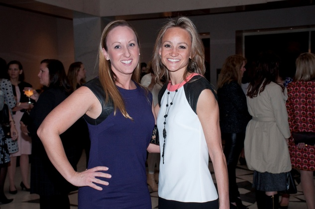 Heather Sheffield, left, and Amanda Weber at the Spring Branch Education Foundation luncheon November 2014