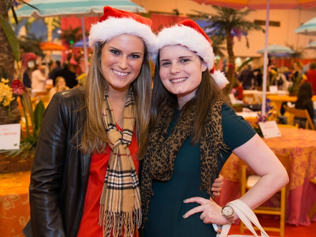 16 Emily Eakin, left, and Kaitlyn Ullrich at The Nutcracker Market preview party November 2014