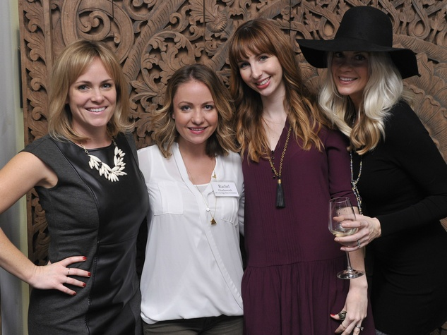 Blanton Museum Art on the Edge Kickoff Party November 2015 Erica Brennes Rachel Charlesworth Meredith Schulz Patti Niewolny