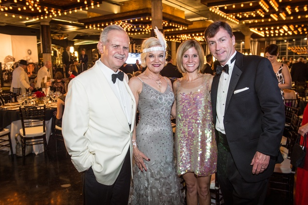 Jim and Jo Furr, from left, and Erin and Chris Stimming at the Stages Repertory Theatre Gala April 2015 FULTON