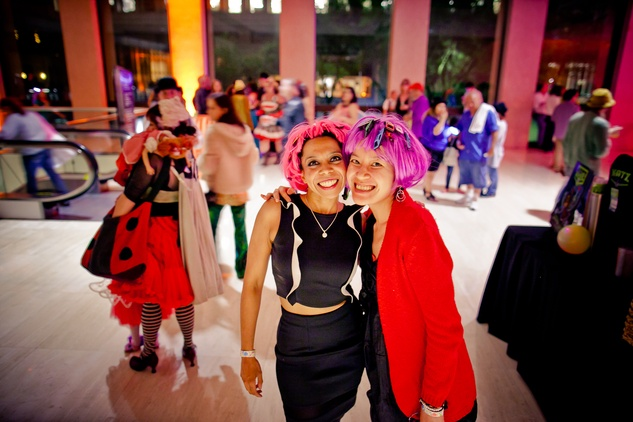 232 Derika Srivastava, left, and Crystal at the Art Car Ball April 2015