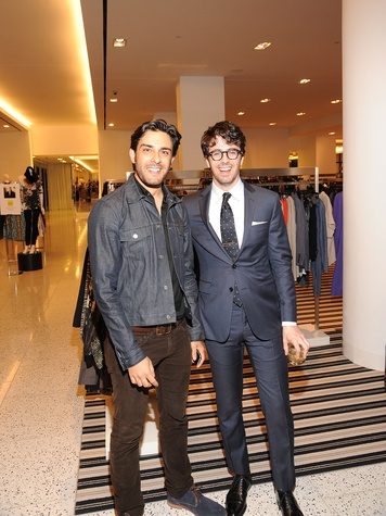 3 Alexandre Rosa, left, and Ian Wells at The Orange Show's A Couture Cause party