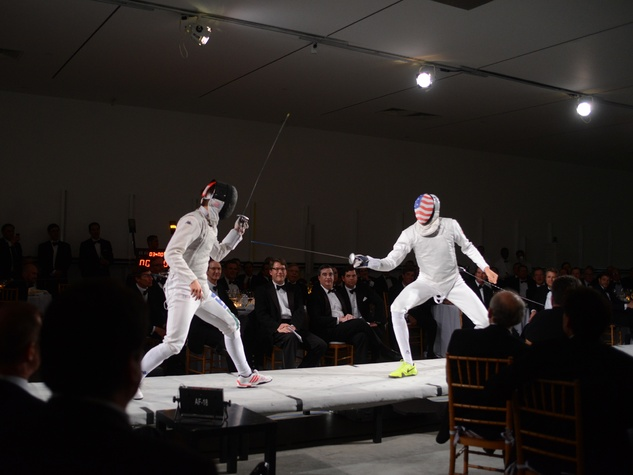Fencing action at Men of Menil March 2014