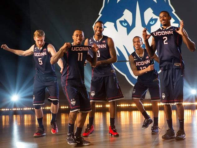 UConn Huskies starting lineup