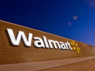 Walmart, sign, logo, December 2012, day
