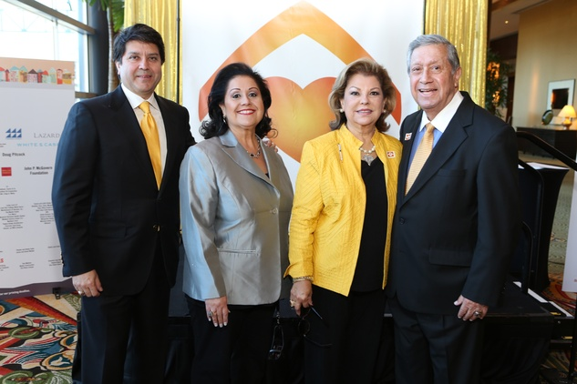 13 Eric Marin, from left, Michele Fraga and Irene and Lupe Fraga at the 1 Million Dollars lunch for Good February 2015