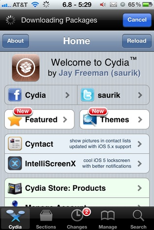 Cydia homescreen