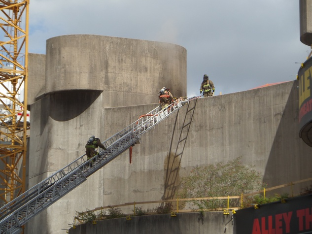1 Alley Theatre fire Sept. 11, 2014