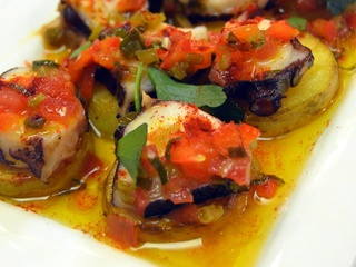 Grilled Octopus Potato Pimento Sofrito
