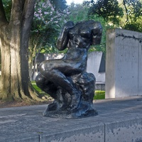 Rodin sculpture Fonderie de Coubertin at Museum of Fine Arts Houston