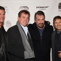 2 Lorenzo Lamas, from left, Chuck Walker, Daniel Baldwin and Ernie Manouse at A Little Christmas Business movie premiere December 2013