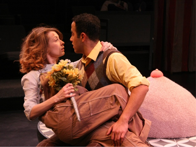 Debbie Crawford and Magdiel Carmona in Laugh at Theatre Three