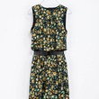 zara COMBINATION FLORAL DRESS