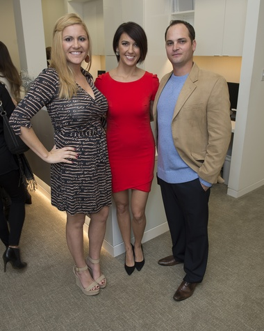 14 Nicole Lapoint, from left, Katie Shak and Logan Pence at the Vitenas party December 2014