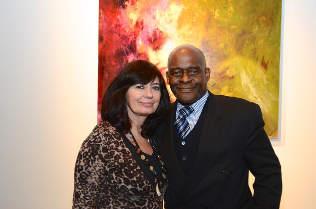 "Christie Love and David Winans Jr. at the Valvisions Foundation ""Cinema, Canvas & Cuisine"" March 2015"