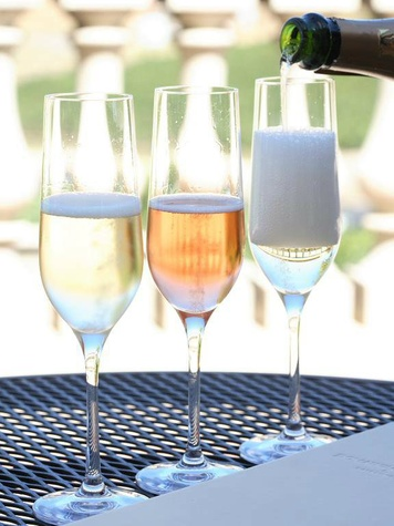 Sparkling wine at Domaine Carneros in Napa