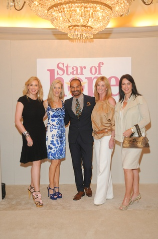 Jenee Stefanakis, from left, Michelle Leyendecker Smith, Todd Ramos, Kim Moody and Alicia Smith at the Star of Hope Celebrity Fashion Show May 2014