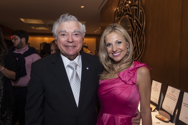 Doc Wishnow and Katherine Whaley at the Eye Care for Kids benefit May 2014