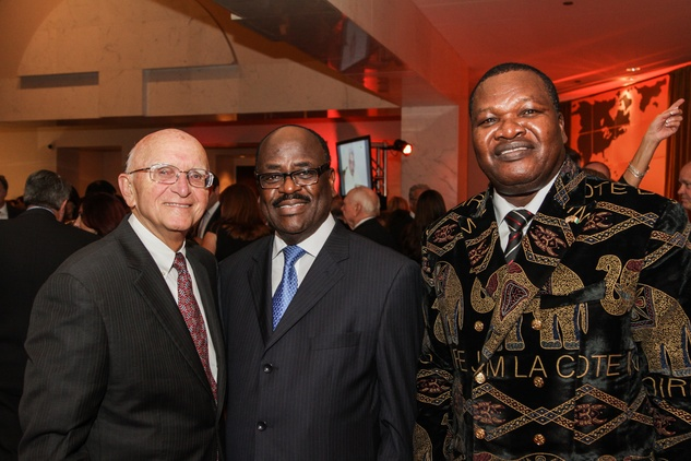 Don Wagner, from left, Jean Bouadou and Samuel Mobio at the Medical Bridges Gala September 2014