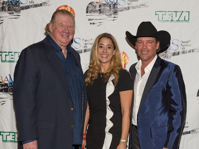 67 Paul and Kristina Somerville, from left, with Clay Walker at Bands Against MS