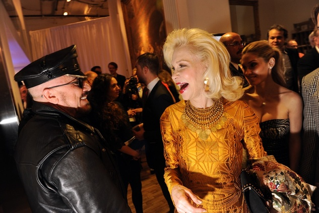 Peter Marino and Lynn Wyatt at the Tribeca Ball New York May 2014