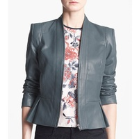 nordstrom Mural Strong Shoulder Faux Leather Jacket
