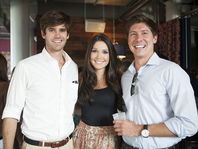 Robert Wallace, Taylor Leibson, Scott Baker, CultureMap Cocktail Party, NYLO Southside