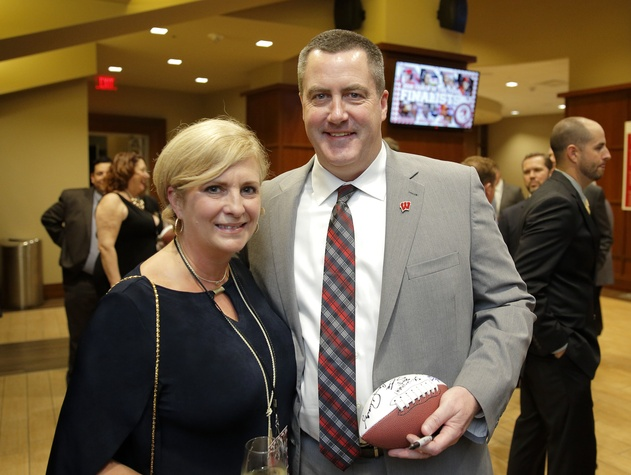 "Houston, Paul ""Bear"" Bryant Awards, college coach of the year, Jan 2017, Shelley Watson, Paul Chryst"