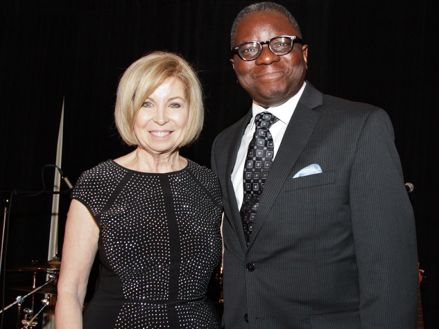 Dorothy Bolettieri and Dr. Kayode Makinde at the Medical Bridges gala October 2013