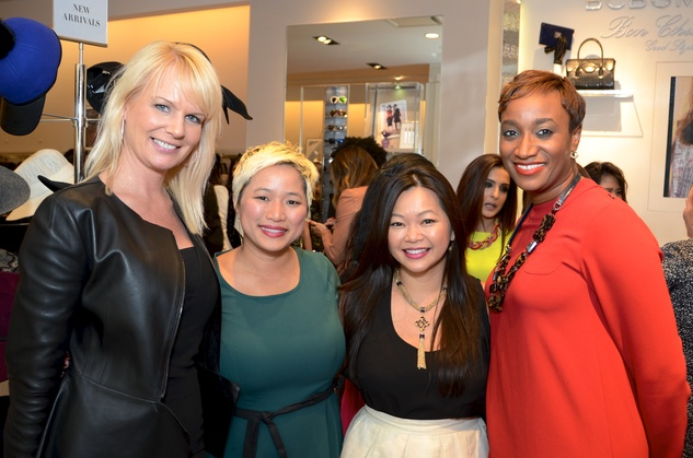 8 Jennifer Simmons, from left, Sydney Dao, Chloe Dao and Andrea Bonner at Mandy Kao and Nihala Zakaria birthday party October 2014