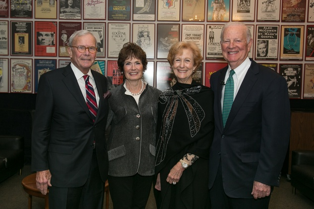 Tom and Meredith Brokaw from left, and Susan and James A. Baker III at the M.D. Anderson Living Legend in Washington, D.C. November 2013