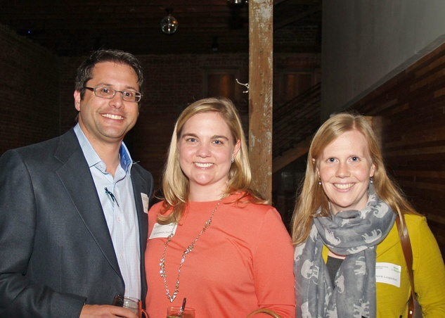 11 Ian Rosenberg, from left, Elizabeth Swift and  Claire Logsdon at the Preservation Houston Young Professionals party November 2013