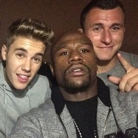 Johnny Manziel parties with Justin Bieber