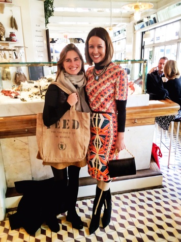 Lauren Bush Lauren, left, and Carrie Colbert September 2014 in New York City