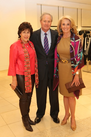Janet and Ernie Cockrell, from left, with Denise Monteleone at the CancerForward Key To The Cure Kick-off October 2014
