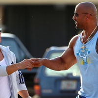 Mark Wahlberg and Dwayne Johnson in Michael Bay's Pain & Gain